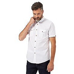 Red Herring - Big and tall white textured short sleeve shirt