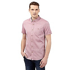 Red Herring - Big and tall red textured slim fit shirt