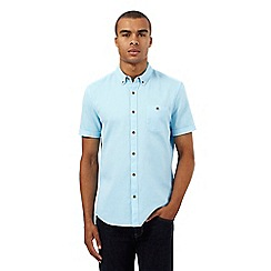 Red Herring - Big and tall turquoise textured regular fit shirt
