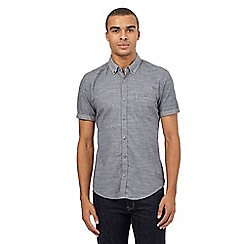 Red Herring - Grey textured button down shirt