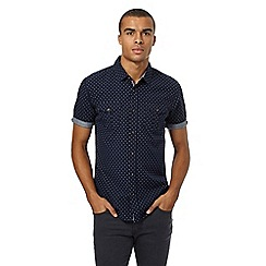 Red Herring - Navy cross textured shirt