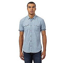 Red Herring - Blue denim striped shirt
