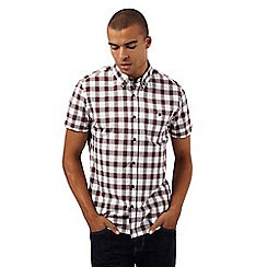 Red Herring - Big and tall red checked regular fit shirt