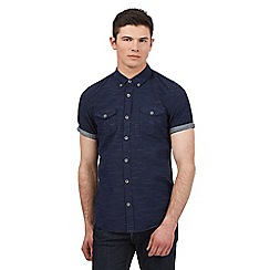 Red Herring - Navy dot print short sleeve shirt