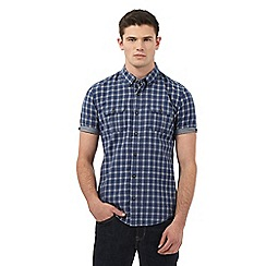 Red Herring - Navy checked print slim fit shirt
