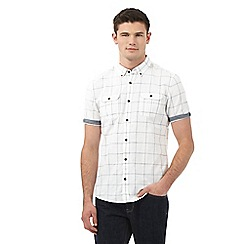 Red Herring - White window pane check print slim fit shirt