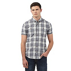 Red Herring - Navy checked print slim fit shirt