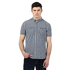 St George by Duffer - Big and tall blue gingham checked print shirt