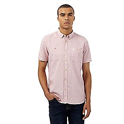 St George by Duffer - Big and tall red textured short sleeved shirt