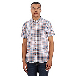 St George by Duffer - Big and tall red checked print shirt