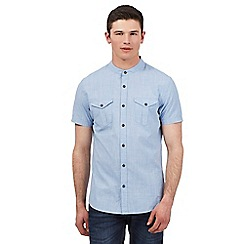 Red Herring - Light blue dogtooth grid print shirt