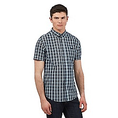 Red Herring - Blue check print short sleeve shirt