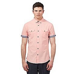 Red Herring - Light pink fine stripe shirt
