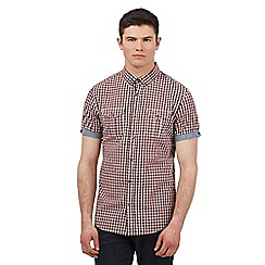 Red Herring - Red check print short sleeve shirt