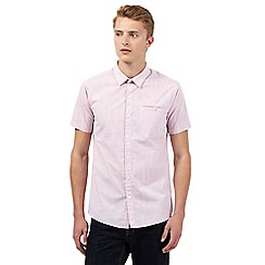 Red Herring - Pink textured slim fit shirt