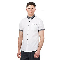Red Herring - White contrast trim shirt
