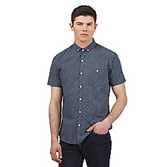 Red Herring - Navy irregular spot print shirt