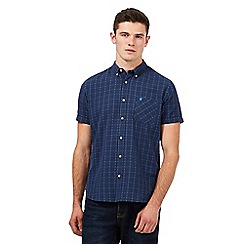 St George by Duffer - Navy checked print regular fit shirt