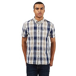 St George by Duffer - Big and tall brown checked shirt