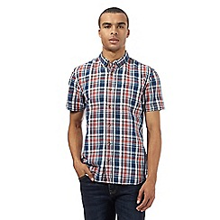 St George by Duffer - Big and tall red and blue checked print shirt
