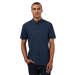 St George by Duffer - Big and tall navy short sleeved shirt