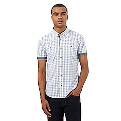 Red Herring - White checked regular fit shirt
