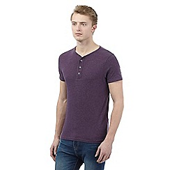 Red Herring - Purple Y-shaped neck t-shirt