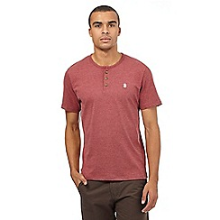 St George by Duffer - Big and tall dark red embroidered logo grandad top