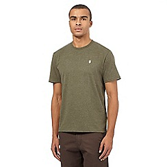 St George by Duffer - Khaki embroidered logo crew neck t-shirt