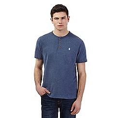St George by Duffer - Big and tall blue embroidered logo granddad top