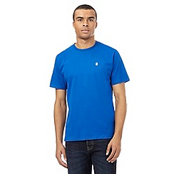 St George by Duffer - Big and tall bright blue logo applique t-shirt