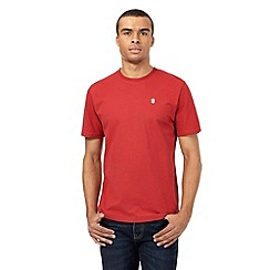St George by Duffer - Big and tall bright red logo applique t-shirt