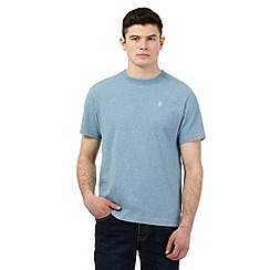 St George by Duffer - Blue logo embroidered t-shirt
