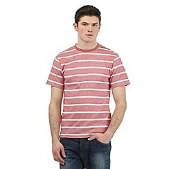 St George by Duffer - Big and tall red striped t-shirt