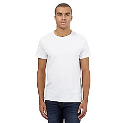 Red Herring - White raw edge t-shirt