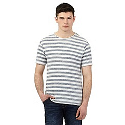 Red Herring - Grey and white striped print t-shirt