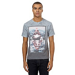 Red Herring - Grey speckled 'L.A' print t-shirt