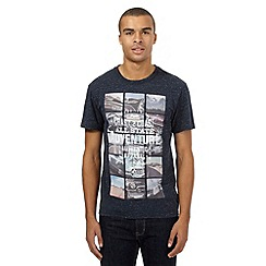 St George by Duffer - Big and tall navy 'Road Trip' print t-shirt