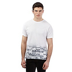 Red Herring - White ombre American print t-shirt
