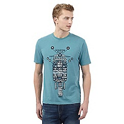 St George by Duffer - Big and tall turquoise scooter print t-shirt