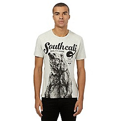 Red Herring - Grey marl bear print t-shirt