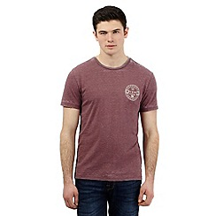 Red Herring - Dark red 'Miami' print t-shirt