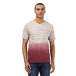Red Herring - Dark red dip dyed t-shirt