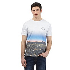 Red Herring - White cityscape print t-shirt