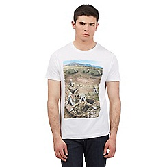 Help for Heroes - White bulldog trench print t-shirt