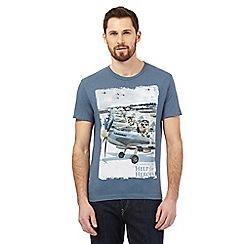 Help for Heroes - Blue meerkat planes print t-shirt