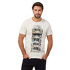 Help for Heroes - Cream marl stacked trucks print t-shirt