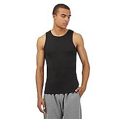 Red Herring - Black ribbed vest