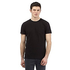 Red Herring - Black ribbed crew neck t-shirt
