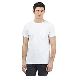 Red Herring - White ribbed crew neck t-shirt